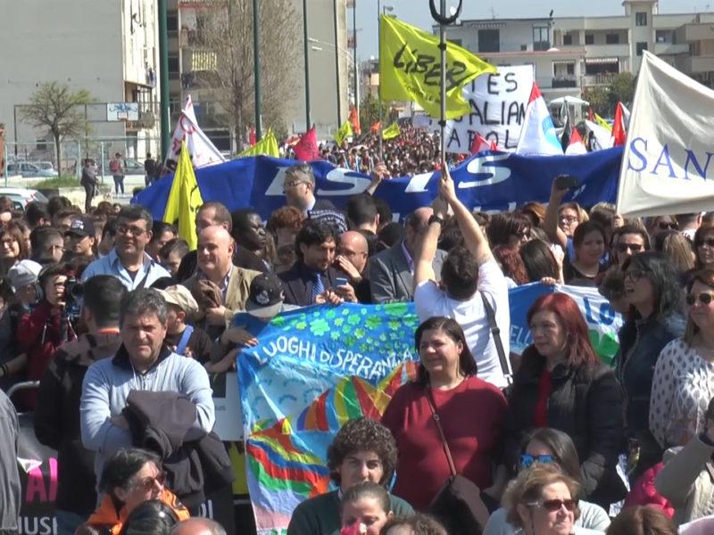 Rione Conocal Ponticelli, manifestazione di Libera