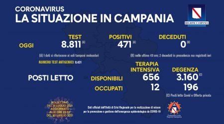 Bollettino Campania 31 luglio